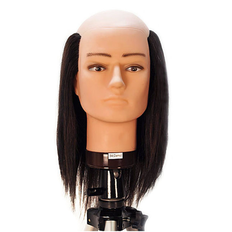 Image 1 Danny 10 Balding Male 100 Human Hair Cosmetology Mannequin Head By