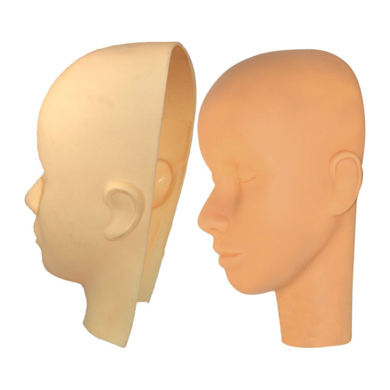 Image 1 - Makeup and Massage Practice Cosmetology Mannequin Head and Mask Set by Celebrity at