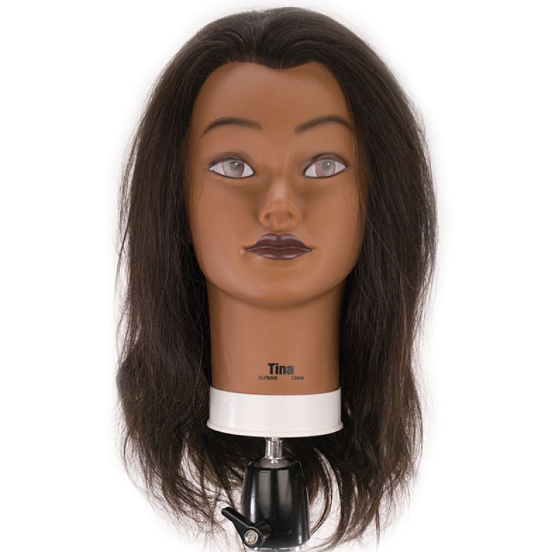 "Tina 21"" Ethnic 100% Human Hair Cosmetology Mannequin Head ..."