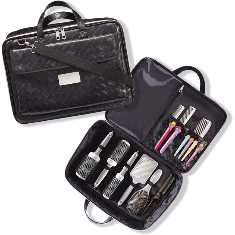 Stylist Bag Deal With Hair Brushes Clips Combs By Olivia Garden