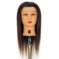 """Caroline 21"""" 100% Human Hair Cosmetology Mannequin Head by Giell"""