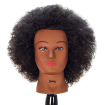 "Image 1 - Naomi 16"" Afro Style 100% Human Hair Cosmetology Mannequin Head by Celebrity at Giell.com"