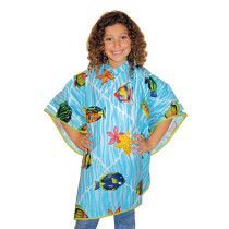 "Image 1 - 42"" X 35"" Child Vinyl Shampoo Cape with Snap Closure by Scalpmaster at Giell.com"