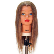"Image 1 - Sam-II Blonde 21"" 100% Human Hair Cosmetology Mannequin Head by Celebrity at Giell.com"