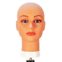 Image 1 - Bald Head Form with Rubber Skin Mannequin Head by Celebrity at Giell.com