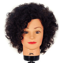 "Image 1 - Erica 16"" Remy Naturally Curly 100% Human Hair Cosmetology Mannequin Head by Celebrity at Giell.com"