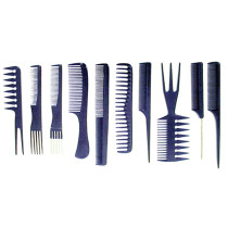 Image 1 - 10 pcs Comb Set Assorted in Roll-Up Pouch