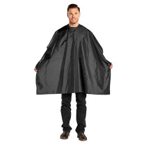 Image 1 - Hair Cutting Cape 100% Nylon Velcro - Black at Giell.com