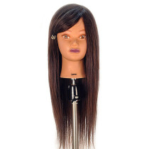 "Image 1 - Lauren 26"" Competition 100% Human Hair Cosmetology Mannequin Head by Celebrity at Giell.com"