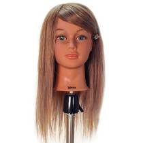 "Image 1 - Sabrina 21"" Blonde 100% Human Hair Cosmetology Mannequin Head by Celebrity at Giell.com"