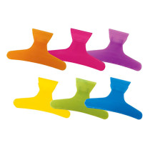 "Image 1 - 36 pcs 3 1/4"" Butterfly Hair Clamps Assorted Neon Colors by Soft 'n Style at Giell.com"