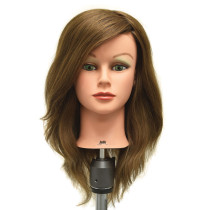 "Image 1 - Jade 22"" Virgin 100% Human Hair Light Brown Cosmetology Mannequin Head by Celebrity"