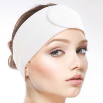 Image 1 - Microfiber Headband with Velcro Closure - White