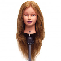 "Image 1 - Rachel 26"" Dark Blonde 100% Human Hair Cosmetology Mannequin Head by Celebrity at Giell.com"