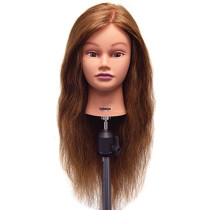 "Image 1 - Catherine 26"" Auburn 100% Human Hair Cosmetology Mannequin Head by Celebrity at Giell.com"