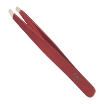 "Image 1 - 4"" Slant Tip Tweezer Red by Satin Edge at Giell.com"
