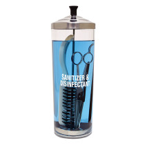 Image 1 - 42 oz Acrylic Salon, Nail and Barber Tools Sanitizing Jar