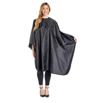 "Image 1 - Hair Cutting Cape 54"" X 60"" 100% Nylon with Velcro Closure - Black"