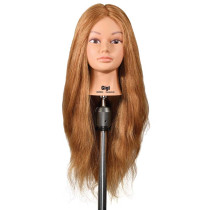 "Image 1 - Gigi 25"" Extra Thick Dark Blonde 100% Human Hair Cosmetology Mannequin Head by Celebrity"