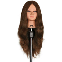 "Image 1 - Bella 25"" Extra Thick 100% Human Hair Cosmetology Mannequin Head by Celebrity"