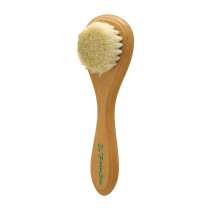 Image 1 - Exfoliating Facial Brush with Wooden Handle and Boar Bristles