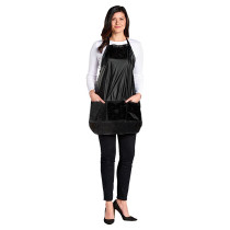 Image 1 - Vinyl Salon Operator / Stylist Apron with Pockets and Waist Ties