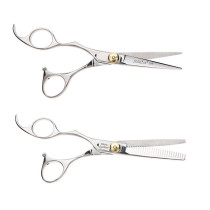 "Image 1 - Silk Cut 5 3/4"" Left-Handed Hair Cutting Shears and 6"" Thinners Set by Olivia Garden at Giell.com"