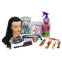 Image 1 - Children's Hairdresser Styling Kit with 1 Mannequin Doll Head by Giell at Giell.com