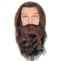"Image 1 - Marcel 16"" Male Bearded Cosmetology Mannequin Head 100% Human Hair by Giell at Giell.com"