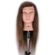 "Image 1 - Jeanine 26"" Natural Hair Growth 100% Human Hair Cosmetology Mannequin Head by Giell at Giell.com"