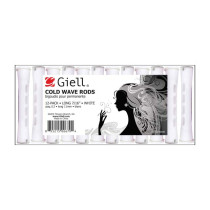 "Image 1 - 7/16"" White Long Cold Wave Perm Rods 12-Pack by Giell at Giell.com"