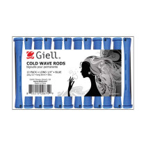 "Image 1 - 1/4"" Blue Long Cold Wave Perm Rods 12-Pack by Giell at Giell.com"
