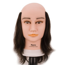 Image 1 - Pierre Balding Male 100% Human Hair Cosmetology Mannequin Head by Giell