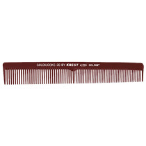 "Image 1 - 7"" Flat - Square Back Larger Cutting Comb Goldilocks G20 by Krest at Giell.com"