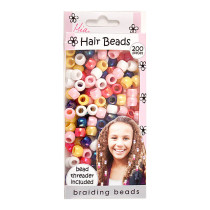 Image 1 - Hair Braiding Beads 200 pcs Assorted Colors by Mia Girl