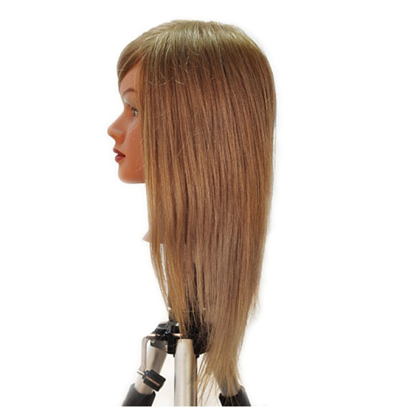 "Image 2 - Chantal 21"" Virgin 100% Human Hair Light Brown Cosmetology Mannequin Head by HairArt at Giell.com"