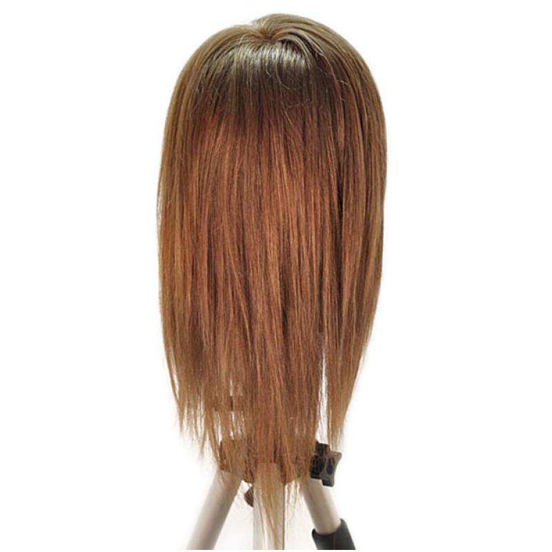 "Image 3 - Chantal 21"" Virgin 100% Human Hair Medium Brown Cosmetology Mannequin Head by HairArt at Giell.com"