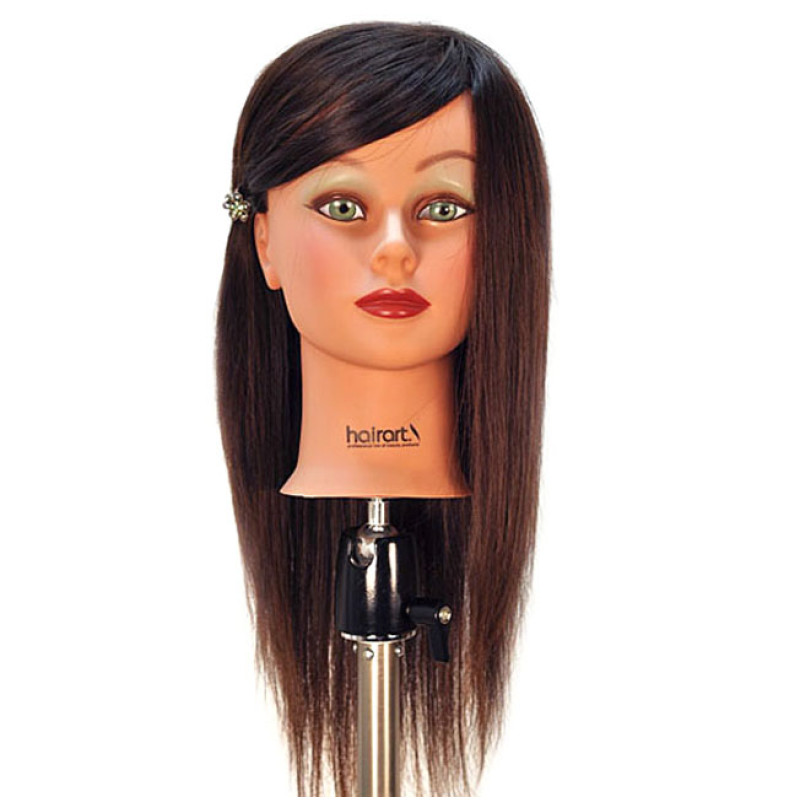 "Image 1 - Chantal 21"" Virgin 100% Human Hair Dark Brown Cosmetology Mannequin Head by HairArt at Giell.com"
