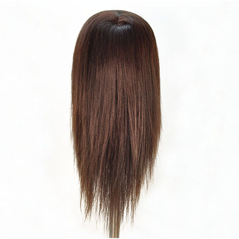 "Image 3 - Chantal 21"" Virgin 100% Human Hair Dark Brown Cosmetology Mannequin Head by HairArt at Giell.com"