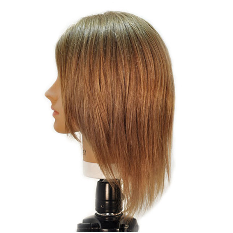 """Image 2 - Emily 12"""" Virgin Remy 100% Human Hair Light Brown Cosmetology Mannequin Head by HairArt at Giell.com"""