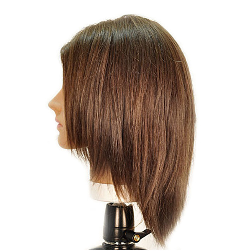 """Image 2 - Emily 12"""" Virgin Remy 100% Human Hair Medium Brown Cosmetology Mannequin Head by HairArt at Giell.com"""