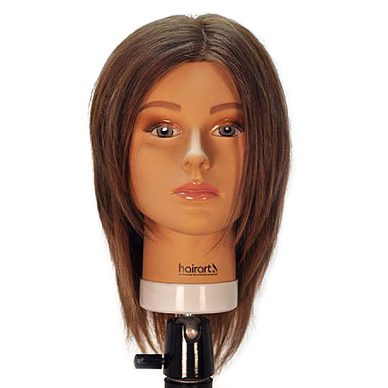 """Image 1 - Emily 12"""" Virgin Remy 100% Human Hair Medium Brown Cosmetology Mannequin Head by HairArt at Giell.com"""