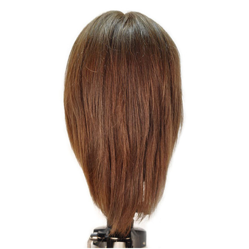 """Image 3 - Emily 12"""" Virgin Remy 100% Human Hair Medium Brown Cosmetology Mannequin Head by HairArt at Giell.com"""