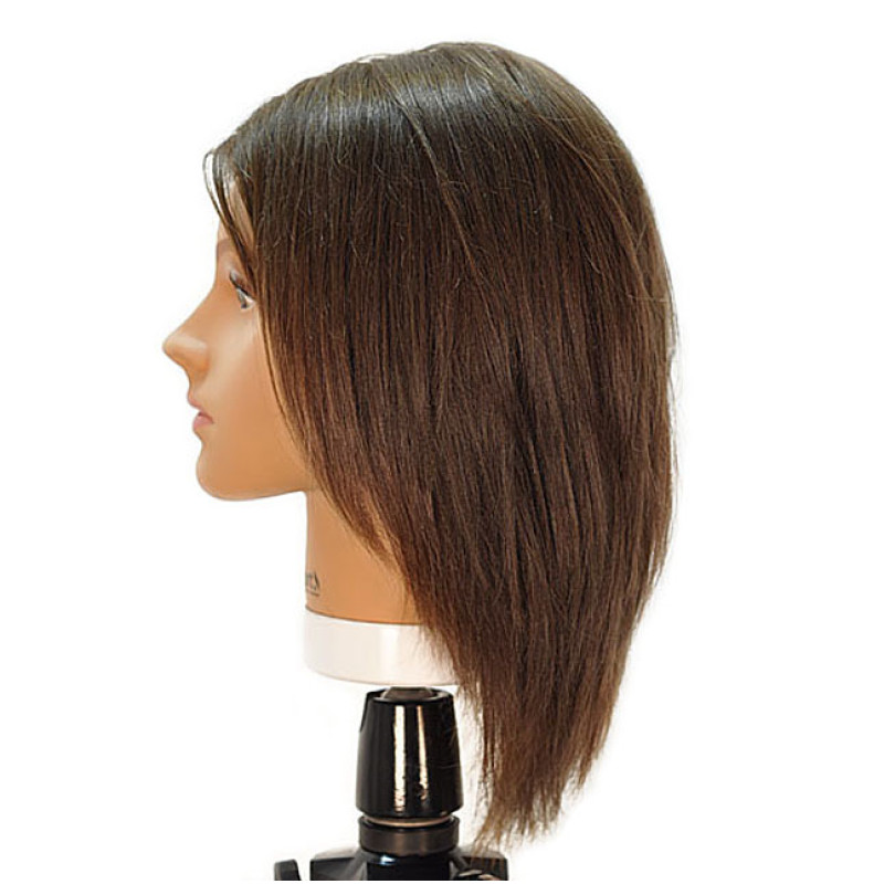 """Image 2 - Emily 12"""" Virgin Remy 100% Human Hair Dark Brown Cosmetology Mannequin Head by HairArt at Giell.com"""