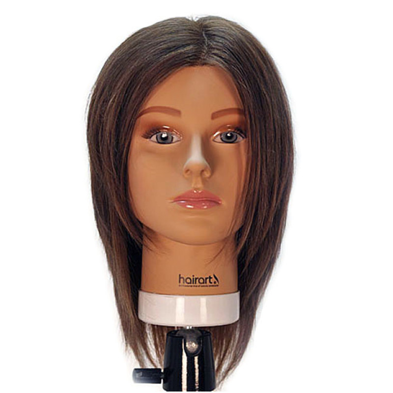 """Image 1 - Emily 12"""" Virgin Remy 100% Human Hair Dark Brown Cosmetology Mannequin Head by HairArt at Giell.com"""