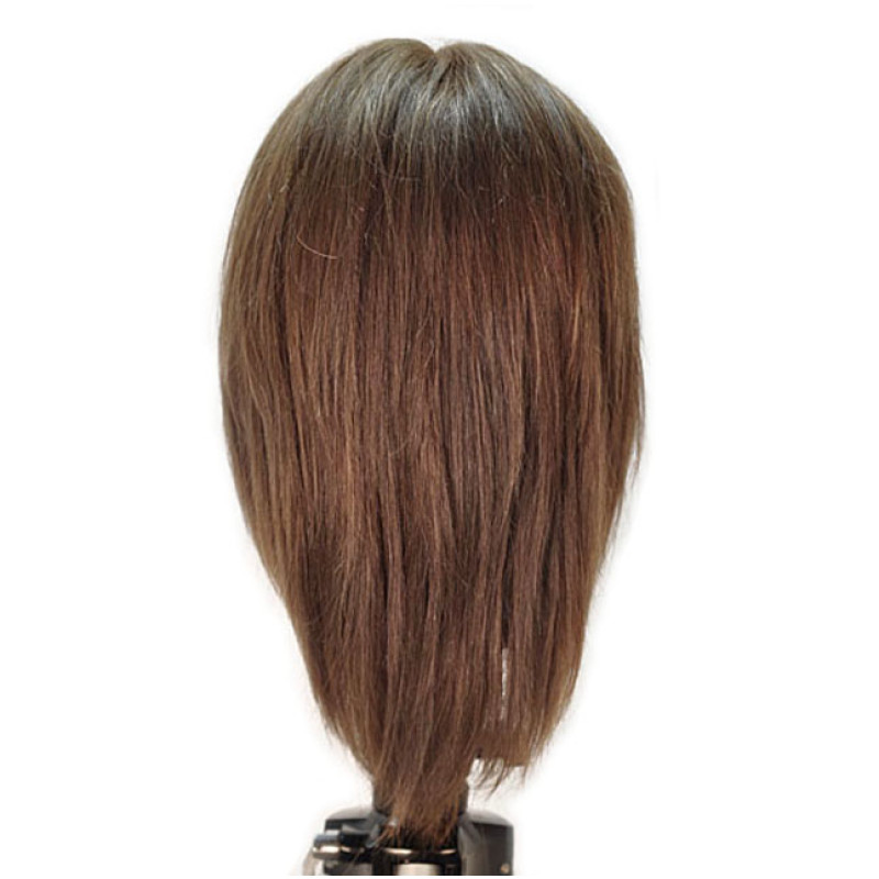 "Image 3 - Emily 12"" Virgin Remy 100% Human Hair Dark Brown Cosmetology Mannequin Head by HairArt at Giell.com"