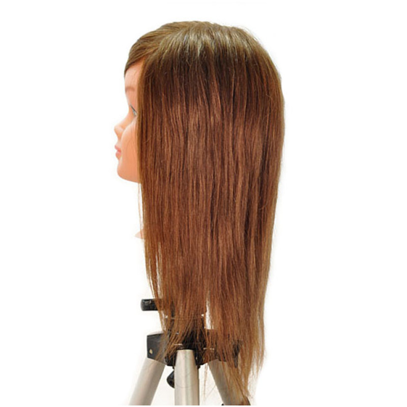 "Image 2 - Nicki 18"" Child 100% Human Hair Light Brown Cosmetology Mannequin Head by HairArt at Giell.com"