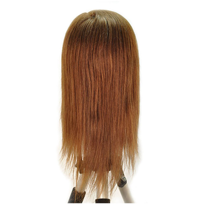 "Image 3 - Nicki 18"" Child 100% Human Hair Light Brown Cosmetology Mannequin Head by HairArt at Giell.com"