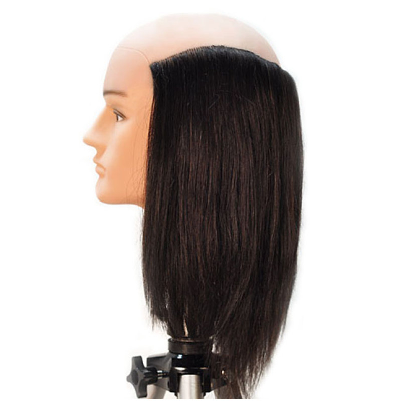 "Image 2 - Danny 10"" Balding Male 100% Human Hair Cosmetology Mannequin Head by HairArt at Giell.com"