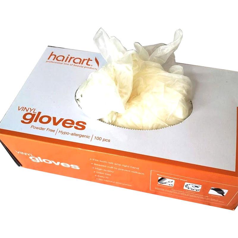 Image 1 - 100 Disposable Vinyl Gloves Powder Free Medium